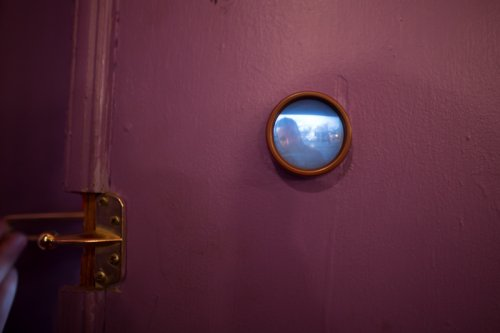 The coolest peephole ever