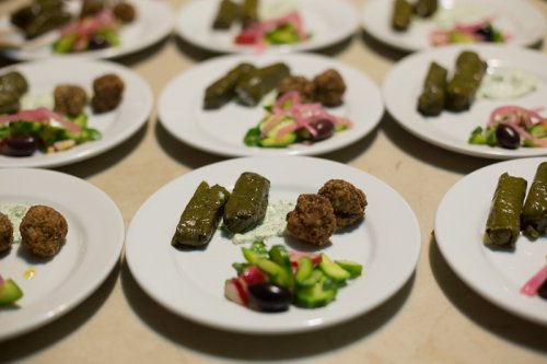 greek meatballs and dolmades
