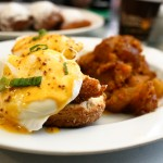 eggs benedict at brenda's: with fried catfish, on a biscuit with creole hollandaise sauce.  yum!