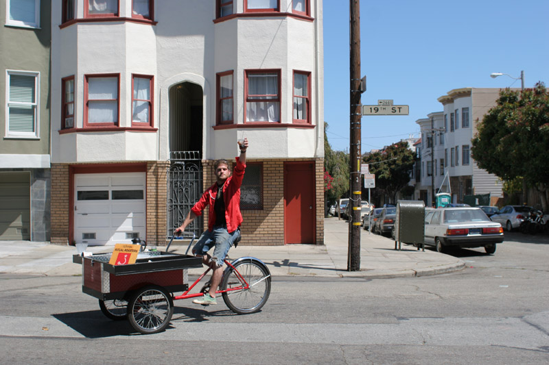 Ritual coffee bike cart