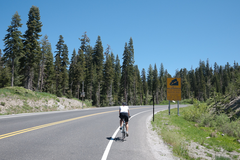 riding up rt 4 in the stanislaus national forest