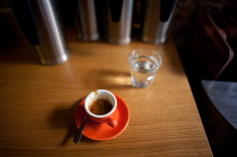 espresso at cafe grumpy