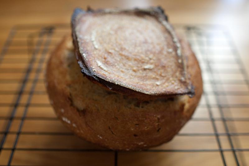30% rye 10% spelt sourdough loaf