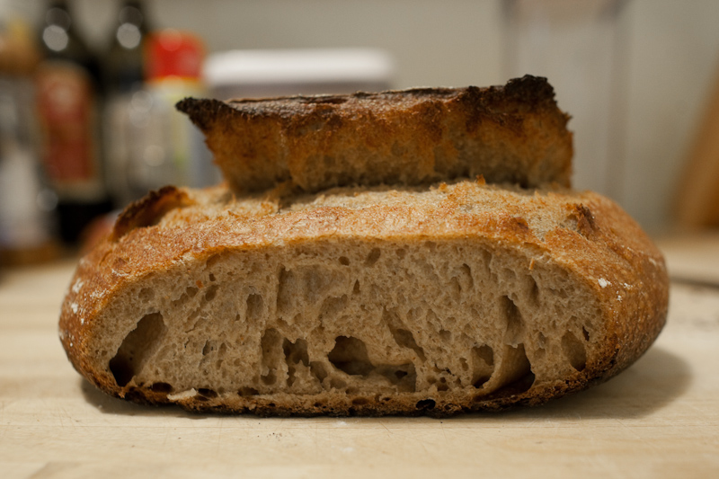 30% rye 10% spelt sourdough loaf, crumb