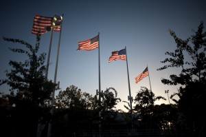 flags above jack london square