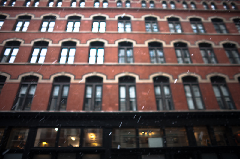 snow in the flatiron