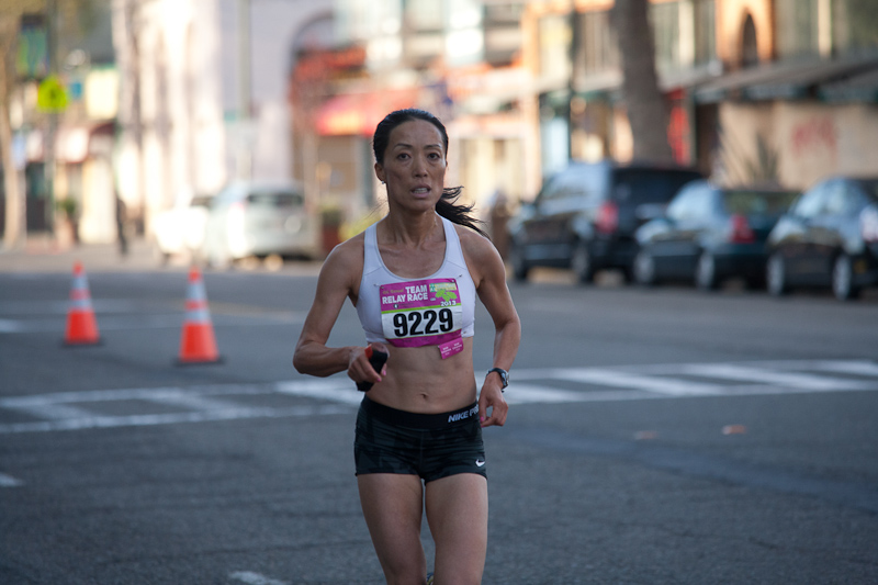Monica Zhuang at the Oakland Marathon 2013