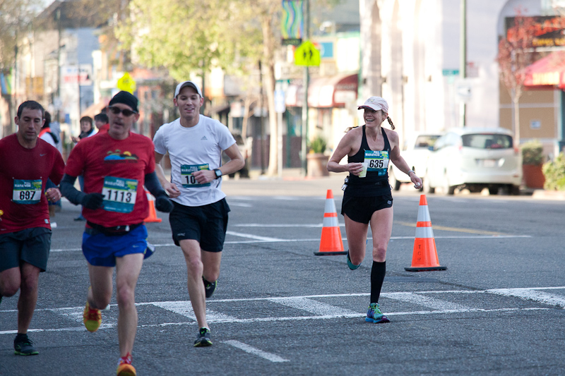 Caitlin Smith and other runners at the Oakland Marathon 2013