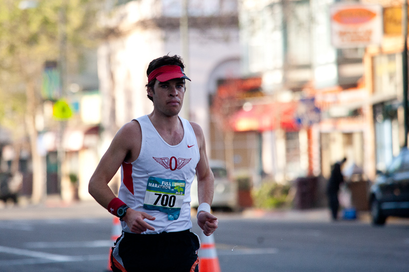 Chris Mocko at the Oakland Marathon 2013