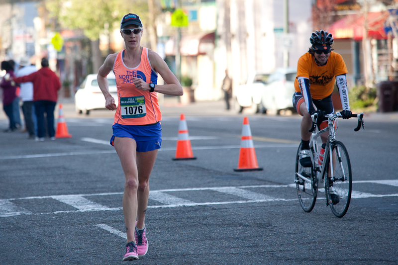 Devon Yanko at the Oakland Marathon 2013