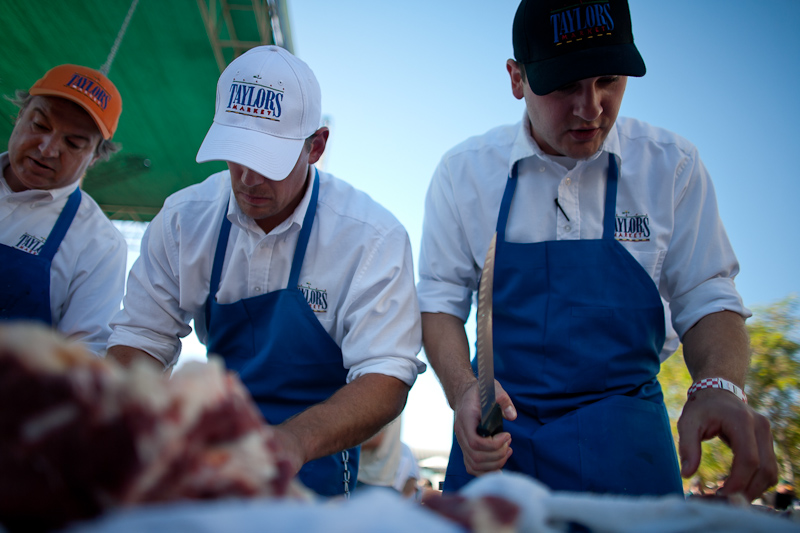 2013 Eat Real Festival Flying Knives Steer Butchery Competition