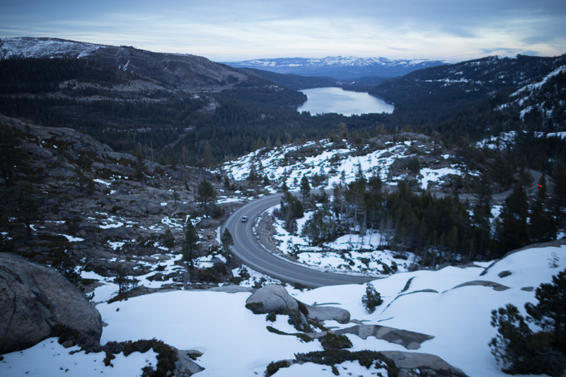 from rainbow bridge, a view of donner lake