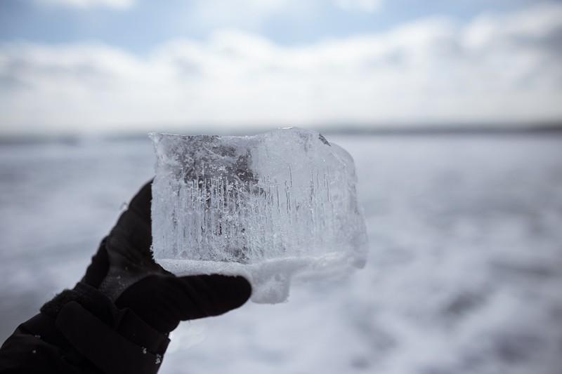ice chunk lake ontario toronto