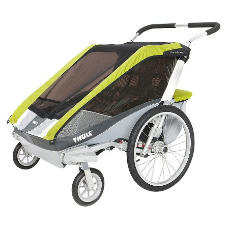 Thule Chariot Cougar with stroller wheels